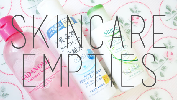 Skincare Empties #1 and a very short review