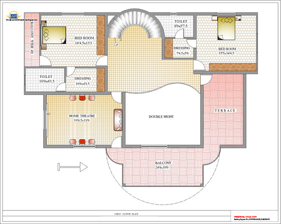 Duplex House First Floor Plan - 392 Sq M (4217 Sq. Ft.) - February 2012