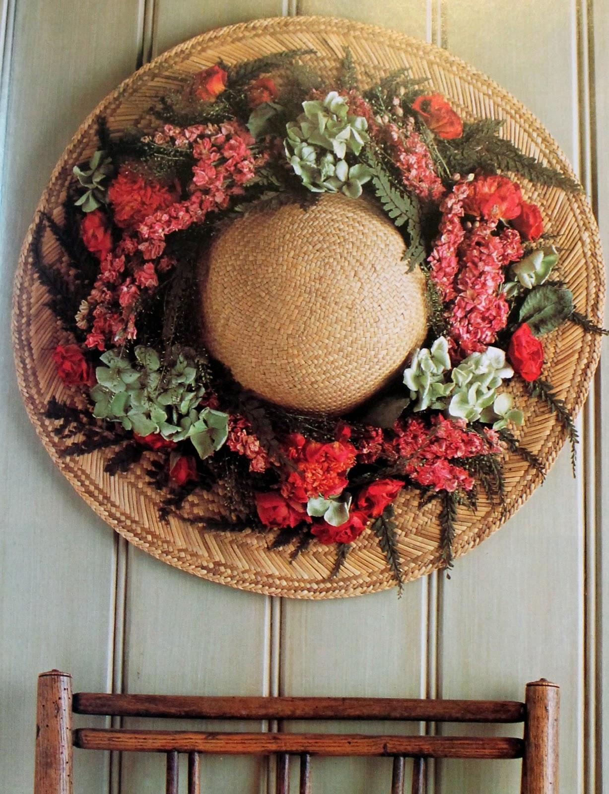 Como decorar con flores secas sombrero de - Decoracion de sombreros ...