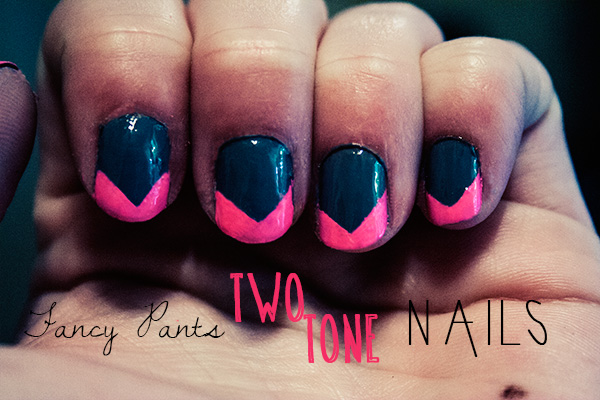 two toned manicure diy