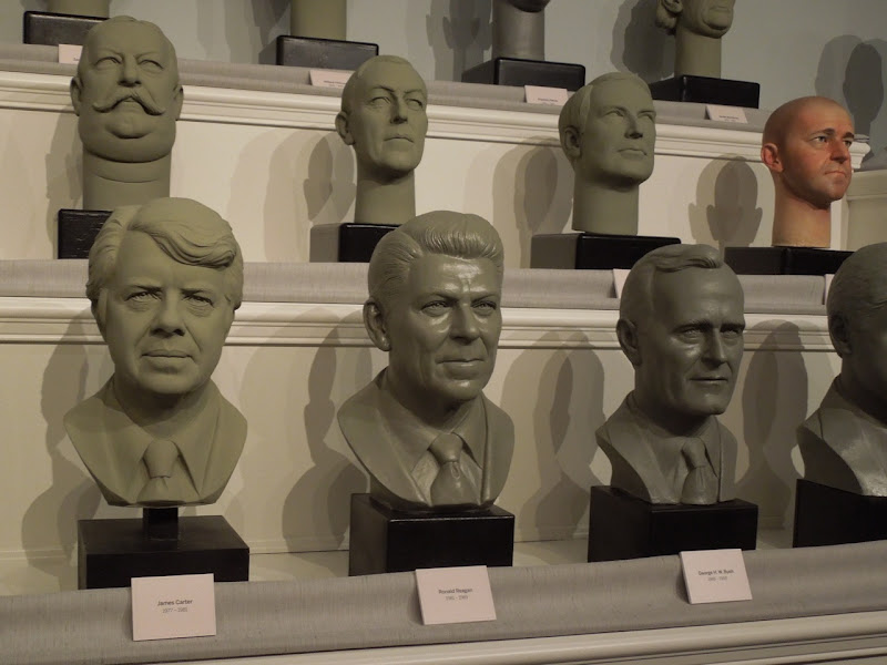 Hall of Presidents busts