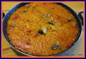 Arroz caldoso con costilla recetas de cocina - Cocina con sara paella ...