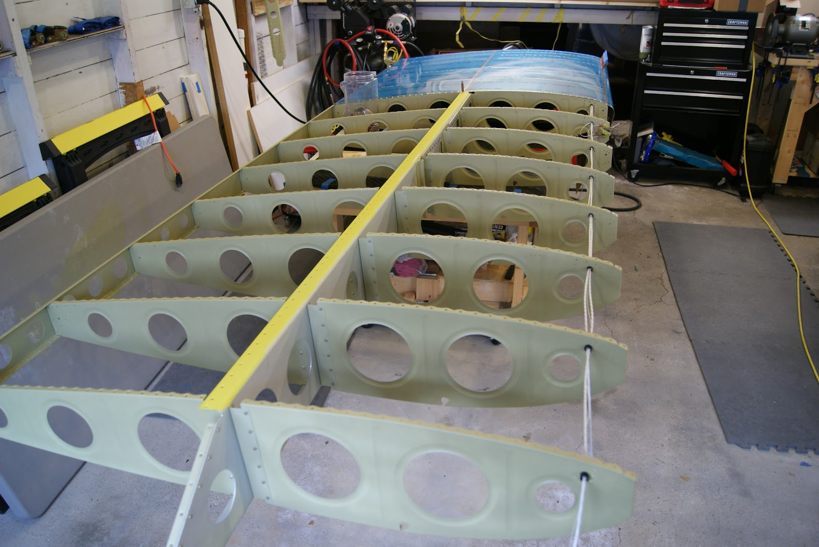Dog Aviation John S Rv 12 Blog W 1201 L Skin Riveted Onto