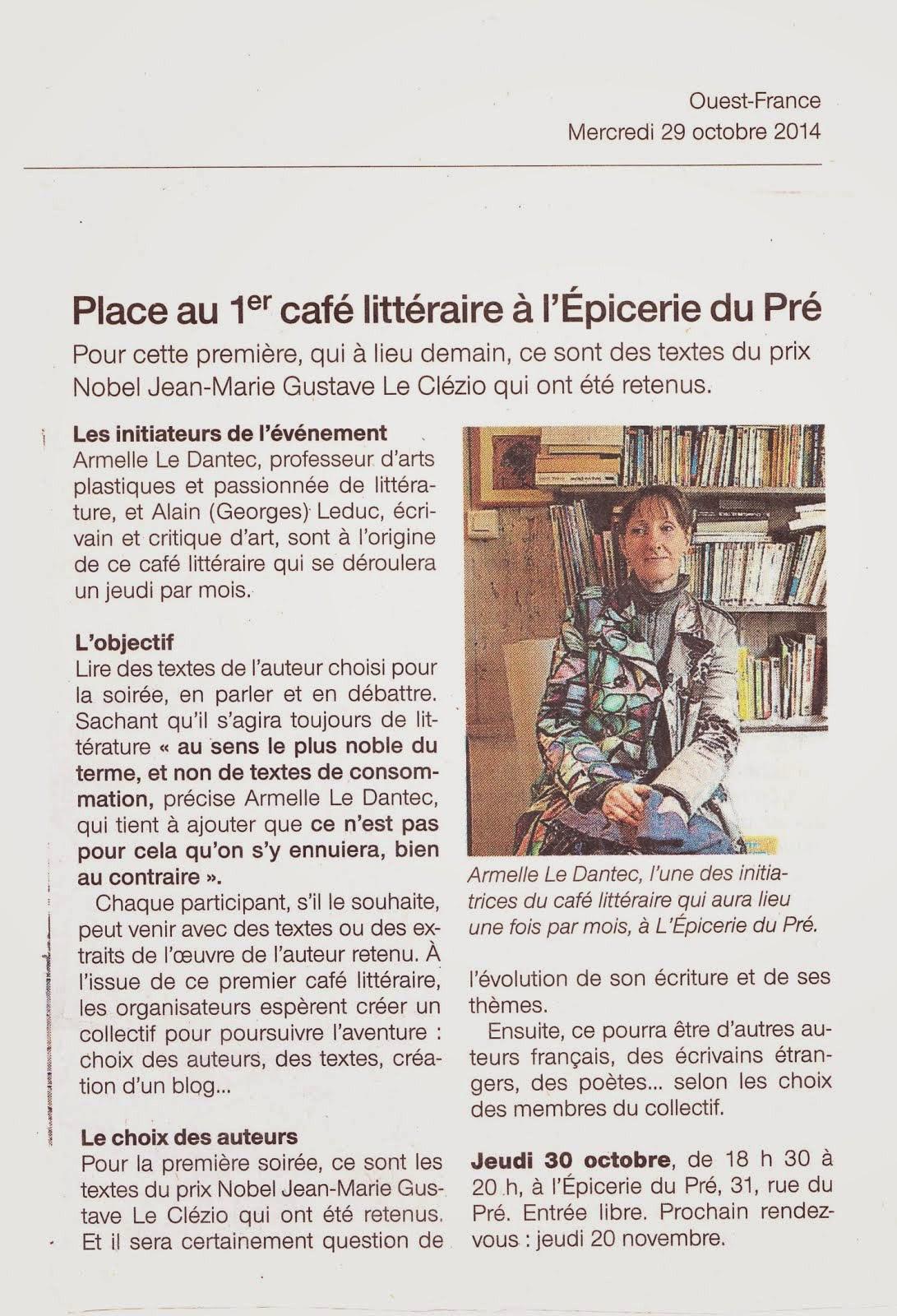 ouest-France 29 octobre 2014