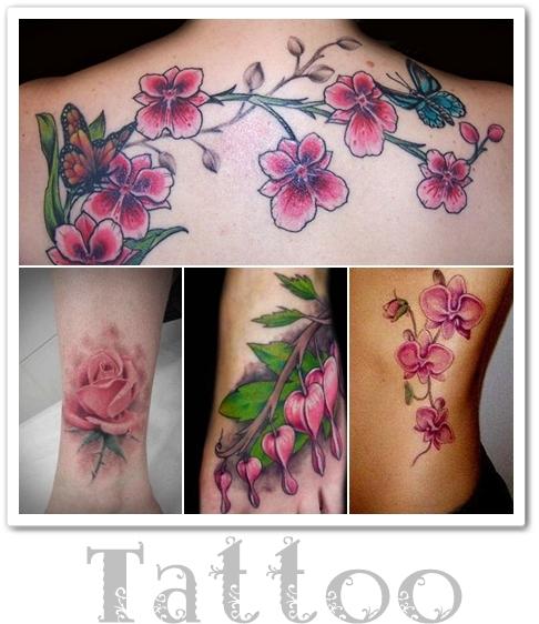 tatuering ros, tatuering orkide,tatuering blommor