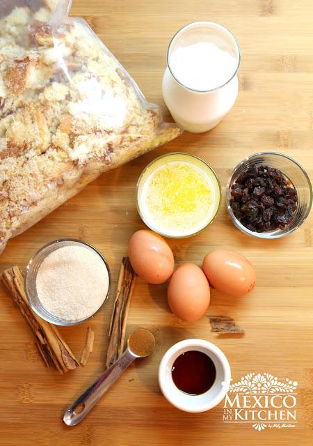 Mexican Bread pudding-Budin de pan-1