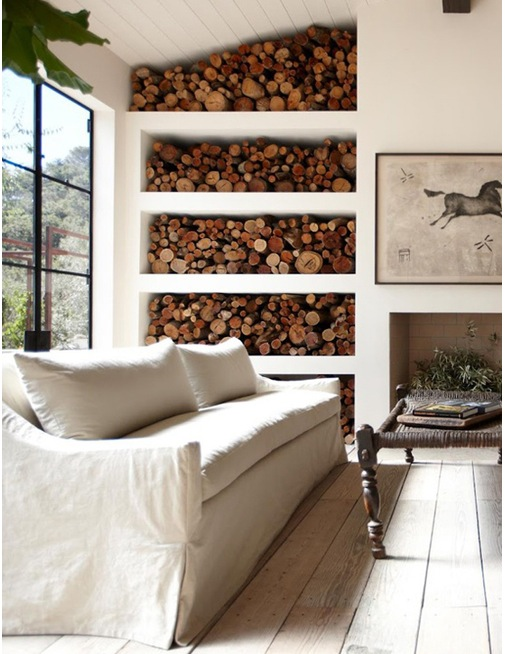 Inspiration archive creative fireplace wood storage for Log storage ideas