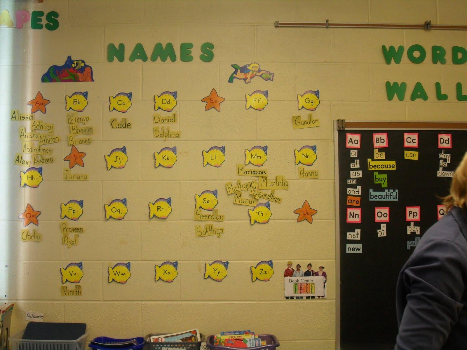 Demonstration Classroom Sharing: Word walls
