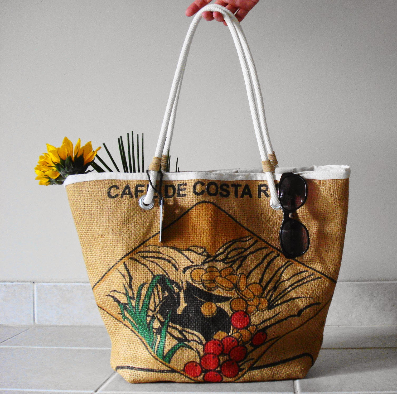 Costa Rica beach bag - Lina and Vi - plymouth MI - linaaandvi.blogspot.com