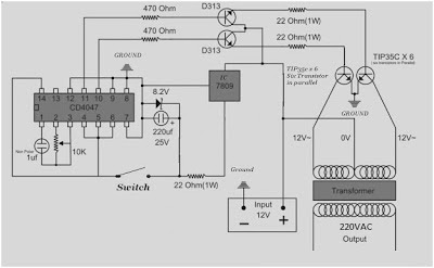 Inverter 500W Schematic diagram