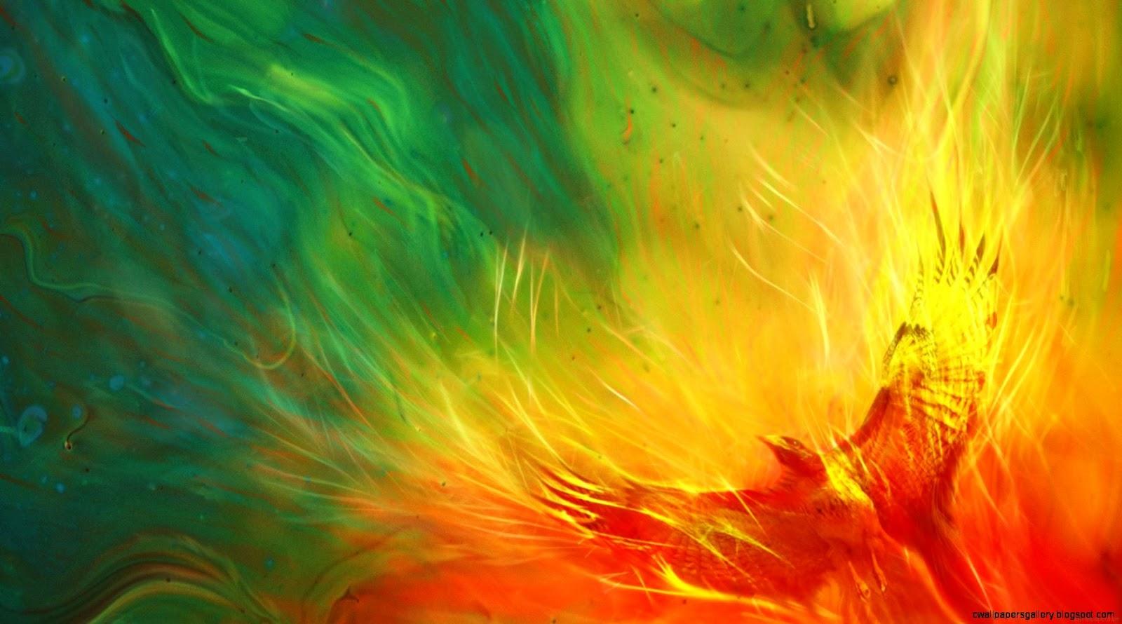 Colorful Phoenix Bird