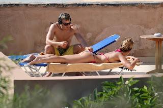 Gemma Atkinson Green Bikini the Mediterranean