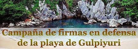 Campaña en defensa de Gulpiyuri