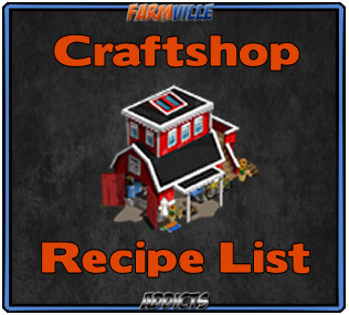 Crafting Recipe List