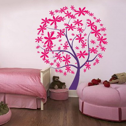 Wall Designs For Girls Room : ... Stickers-for-Teenagers-Girls-Bedroom-Wall-Decorating-Designs-Ideas.jpg
