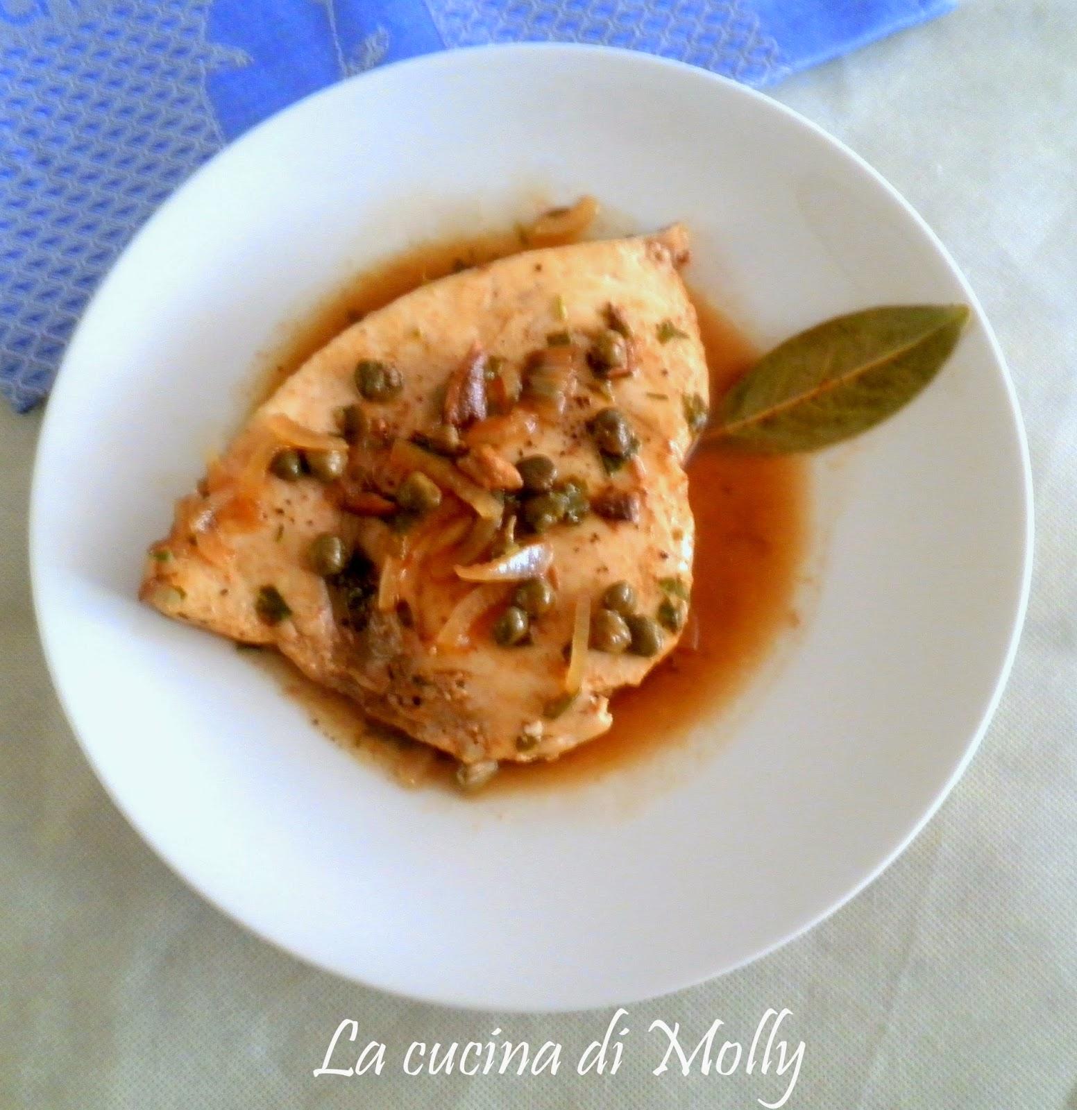 pesce spada con salsa al marsala e capperi