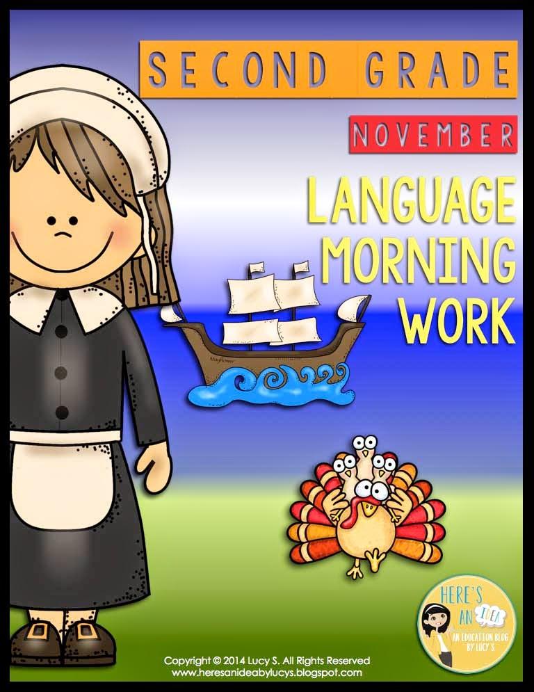 2nd Grade Language Morning Work - November