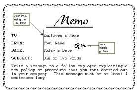 how to write memo
