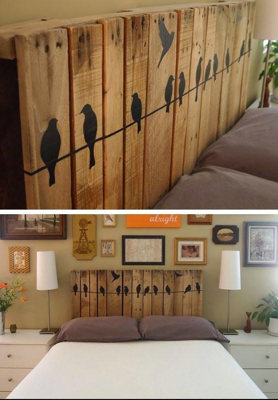 Cabecero de palet mi casa inventada for Different bedroom decorating ideas