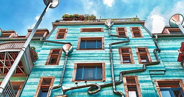 Musical Rain Gutter Wall In Germany Oh My Facts