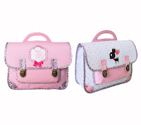cartable de fille rose