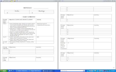 Public School SLPs Lesson Plans - Rti lesson plan template