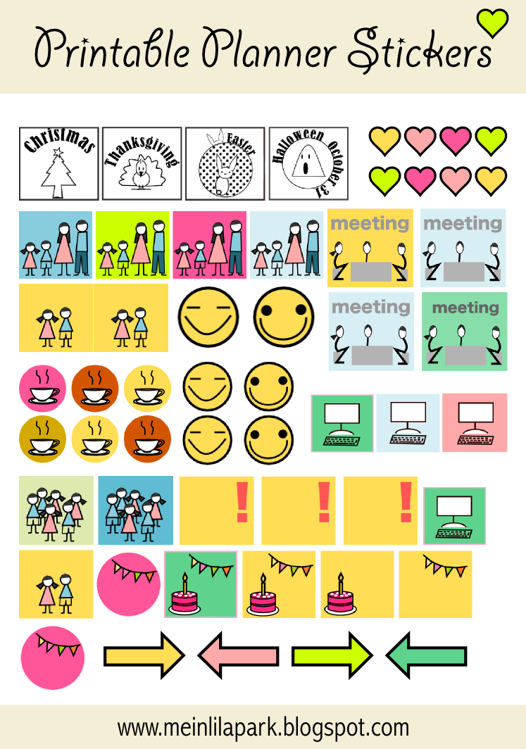 Calendar Planner Stickers : Free printable calendar planner stickers ausdruckbare