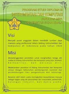 desain poster visi dan misi d iii instrumentasi dan komputasi fakultas