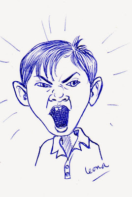 Ballpoint Pen Sketch, emotional, child, temper tantrum