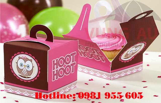 In hộp giấy đựng bánh cupcake ở Vũng Tàu