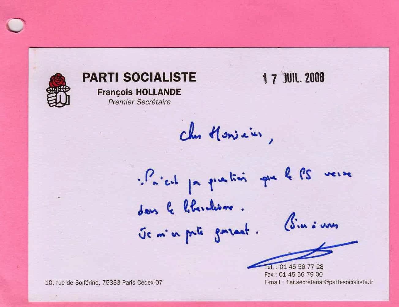 Hollande, le menteur et le fossoyeur du PS