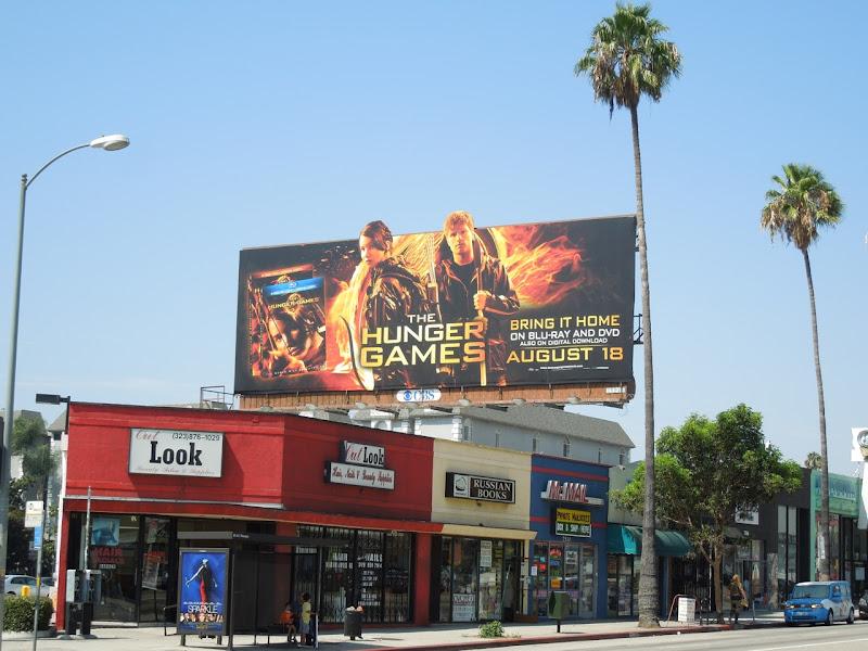 Hunger Games bluray billboard
