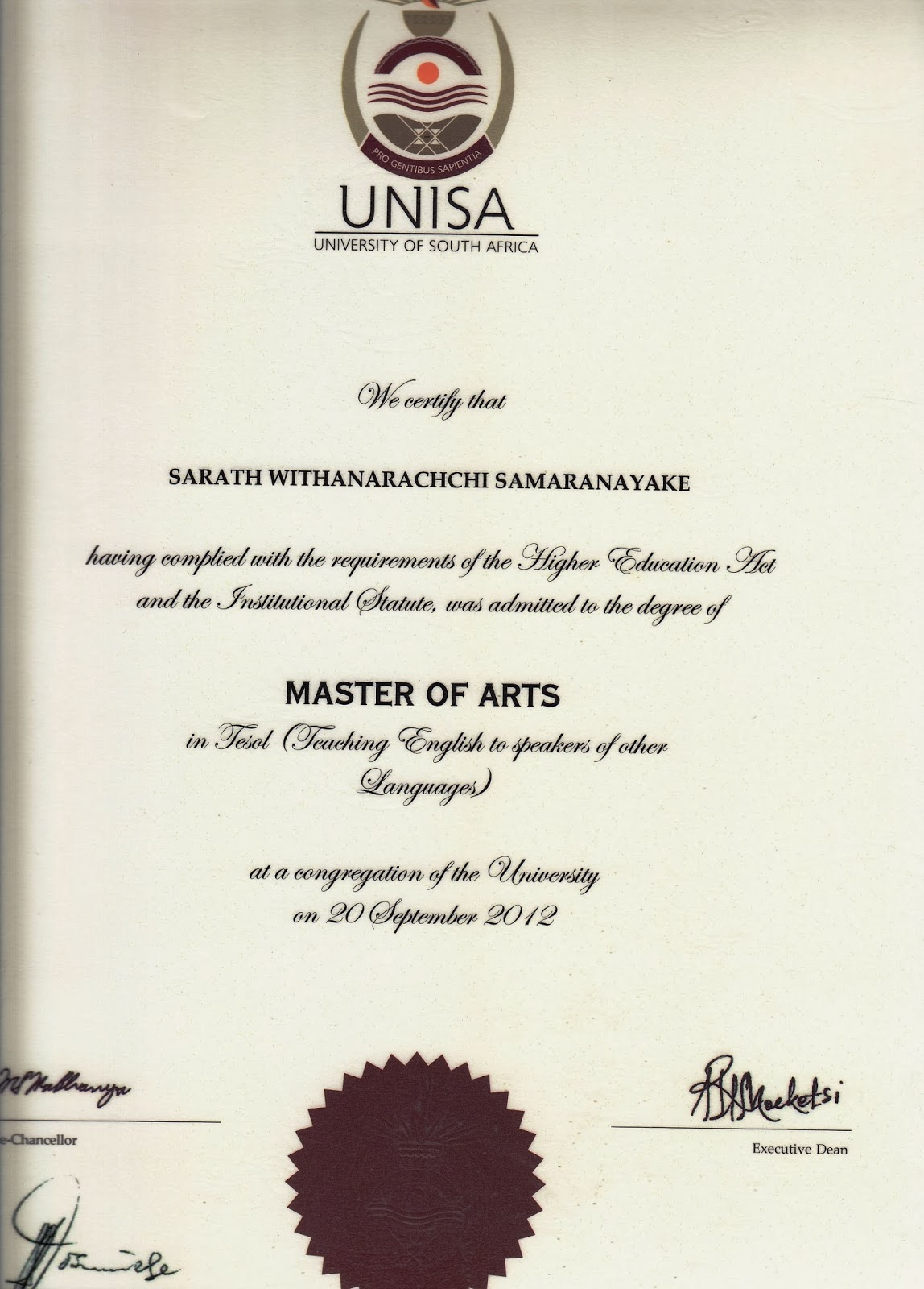 my unisa assignments