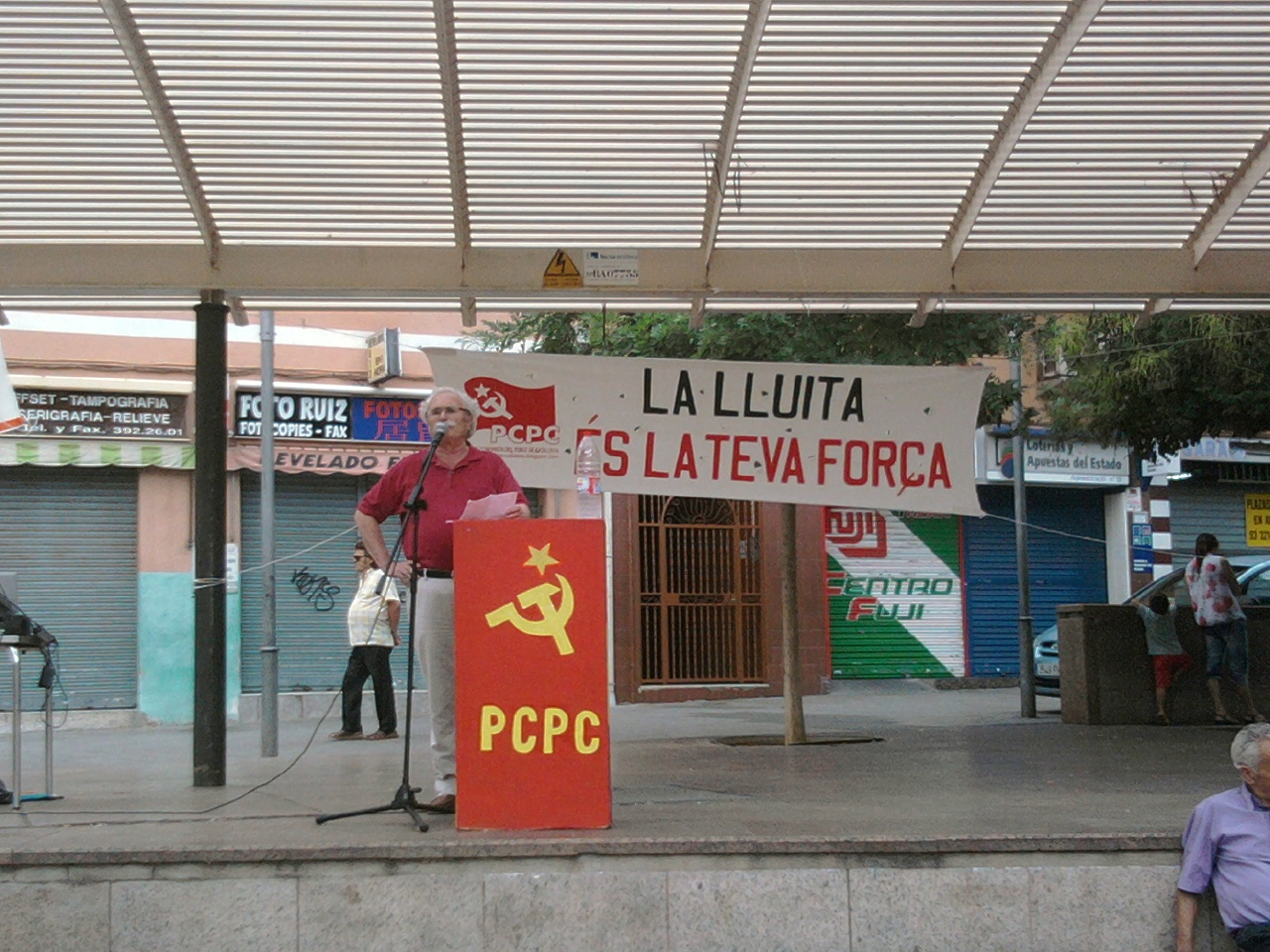 Mitin del PCPC y los JCPC el 11 de septiembre para la fiesta nacional de Cataluña Foto0161