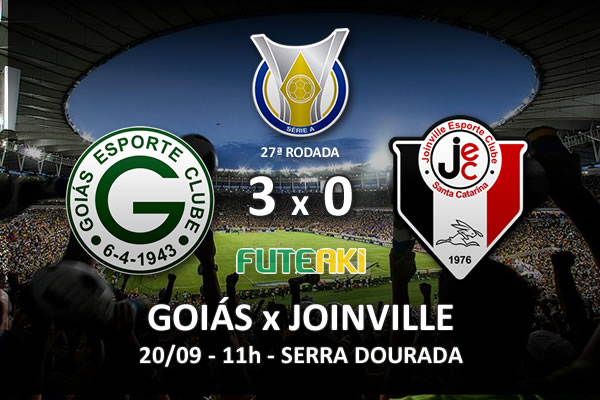 Veja o resumo da partida com os gols e os melhores momentos de Goiás 3x0 Joinville pela 27ª rodada do Brasileirão 2015.