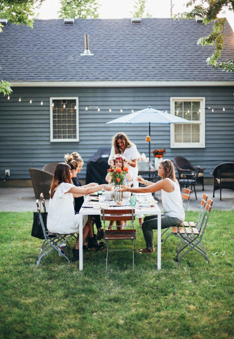 backyard party by tezza