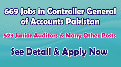 Jobs in Controller General of Accounts Pakistan Jobs 2015