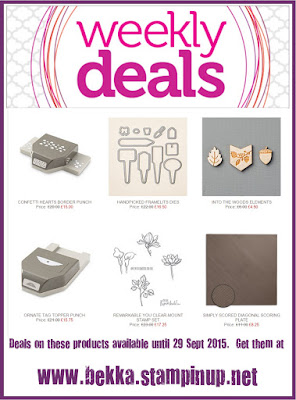 Grab a bargain here with the Weekly Deals from Stampin' Up! UK