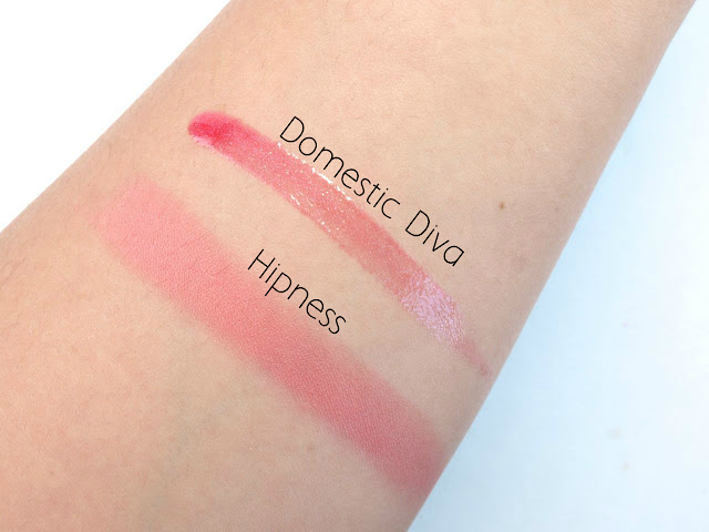"Mac Wash & Dry Lipglass in ""Domestic Diva"" & Powder Blush in ""Hipness"": Review and Swatches"