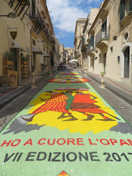 Art on a street in Noto, Sicily