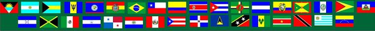 Bandeiras dos países da América Latina e Caribe