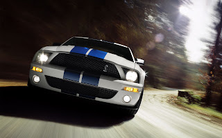 blue ford mustang cobra wallpaper