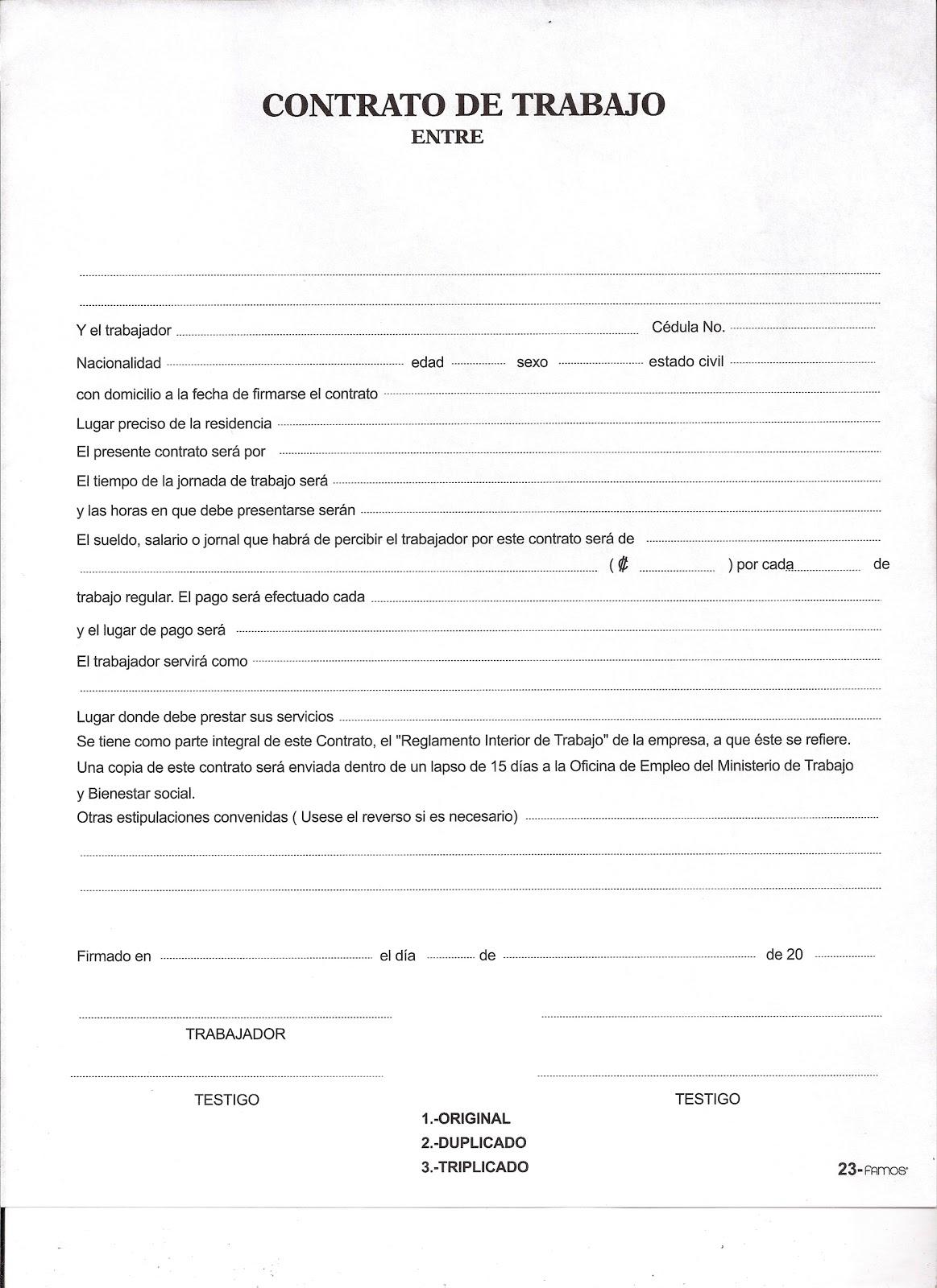 Proyecto final contabilidad 2011 04 10 for Contrato trabajo