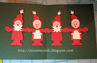 Santa paperdoll pop up card