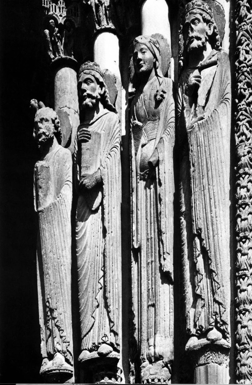 We Can Meet It In The Egyptian Sculpture Greek Kouros Romanesque Virgin Below Right And First Ever Gothic Statues Column At Chartres