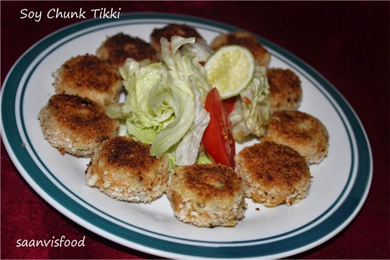 Soy Chunk Tikki / Meal Maker Cutlet (Pan Fried)
