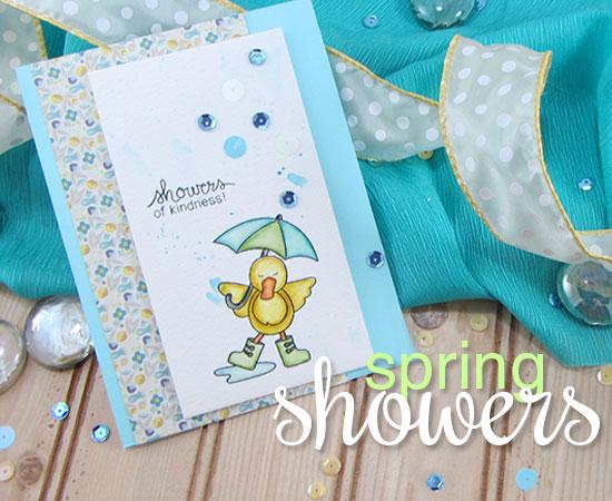 Spring Showers Stamp set by Newton's Nook Designs - Duck Stamp set