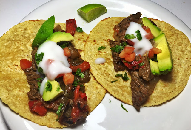21 day fix, meal, cookbook, fixate, steak fajitas