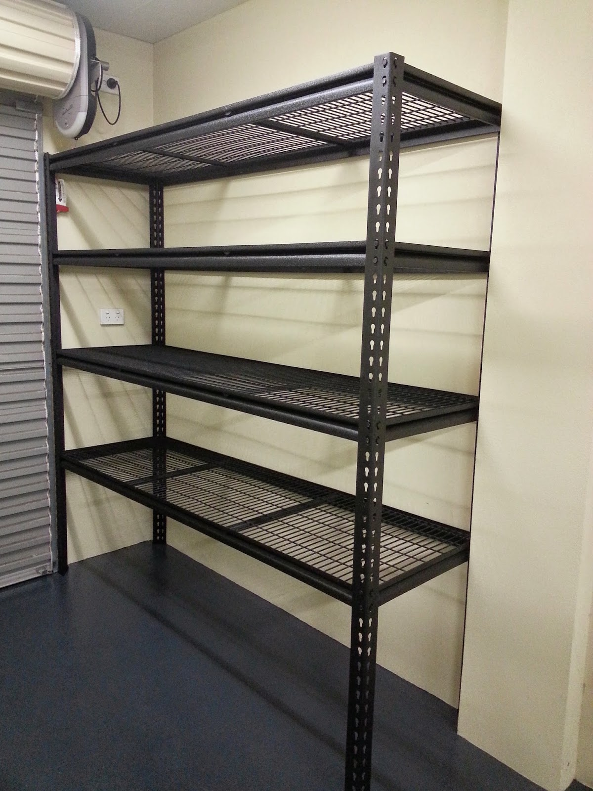 We Found The StorEase System From Bunnings Would Suit Us Best   It Has Wall  Rails And Different Types Of Hooks And Baskets That Clip On Depending On  What ...