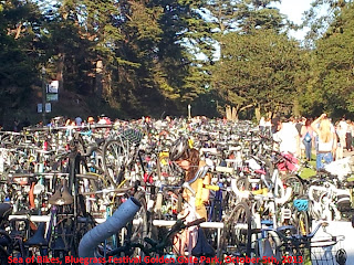 sea of bikes, Bluegrass festival in Golden Gate park, San Francisco
